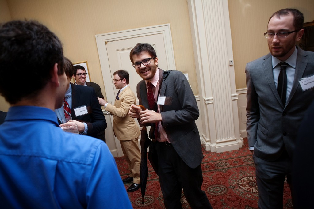 John Timothy having a blast with friends at the Waldorf Astoria during TimCon28. Photo by Alan Chin.